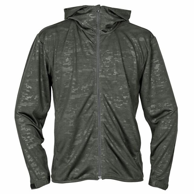 UVパーカージャケット XL デジカモチャコールグレ...