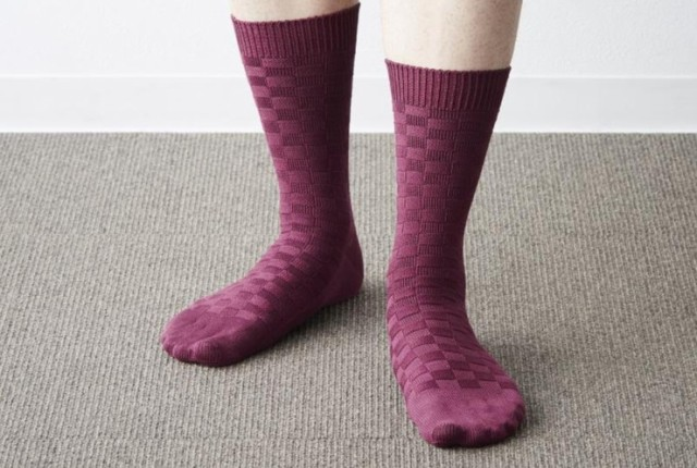 靴下 メンズ シトラス格子総柄 高級シークレット ...