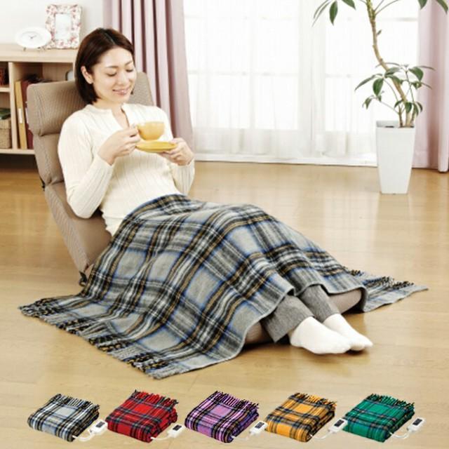 なかぎし 電気ひざかけ毛布 NA-052H かわいいポカ...