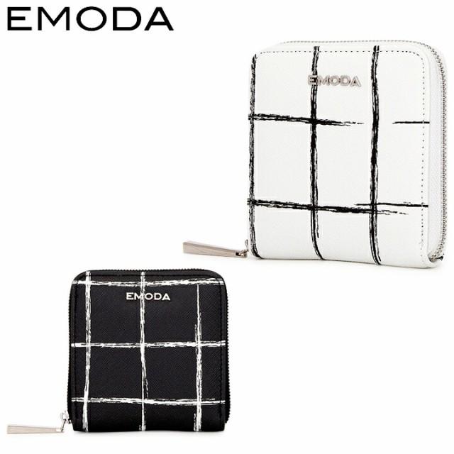 エモダ EMODA 二つ折り財布 EM-9750 格子柄プリン...