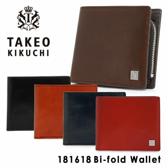 タケオキクチ 財布 181618 【 二つ折り財布 札入...