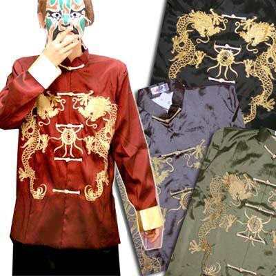 中華な刺繍カンフージャケット(金刺繍)【中国衣...