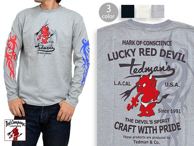 TRIBAL TEDMAN長袖Tシャツ TEDMAN テッドマン TDL...