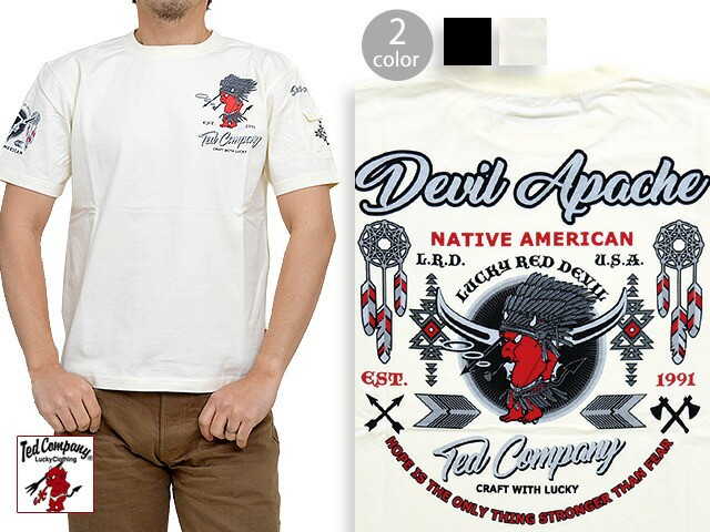 DEVIL APACHE半袖Tシャツ◆TEDMAN/テッドマン