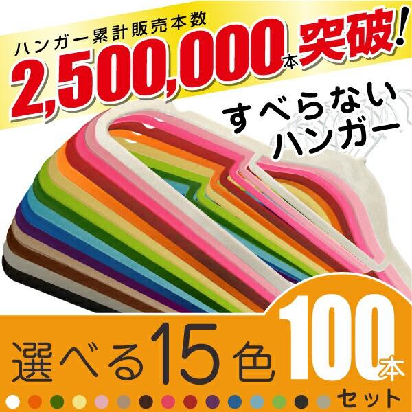 カラフルハンガー100本セット【送料無料】すべら...