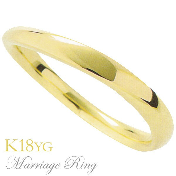 マリッジリング 結婚指輪 高品質 K18 イエローゴ...