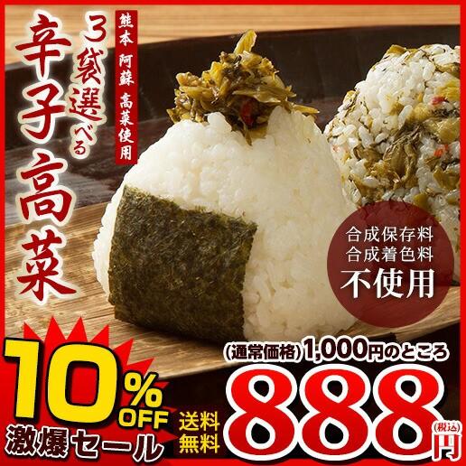 【SALE】送料無料 九州 阿蘇 高菜使用 全5種類か...
