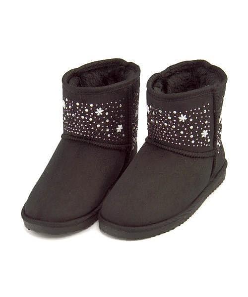 ボアブーツ ショートブーツ 女の子 キッズ 子供靴...