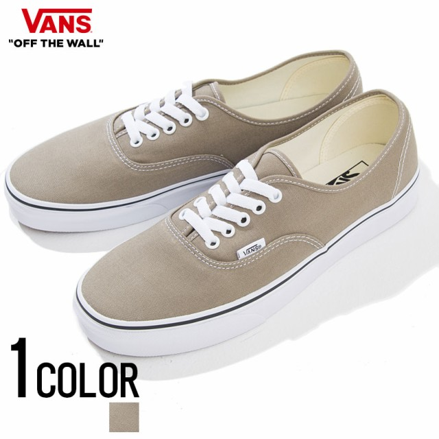 VANS バンズ Authentic Desert Taupe True White ...