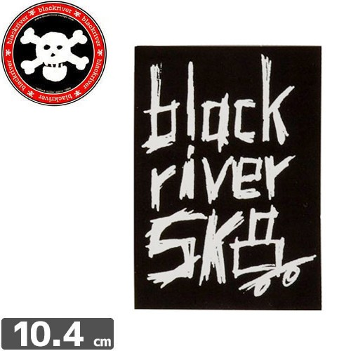 【BLACKRIVER ステッカー】WOODED LOGO STICKER【...