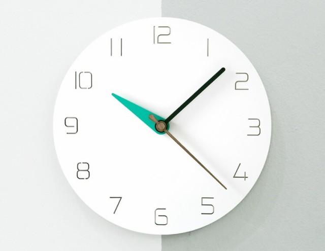 【HANDMADE】壁掛け 時計 MODERN COLORS(3色)(ミ...
