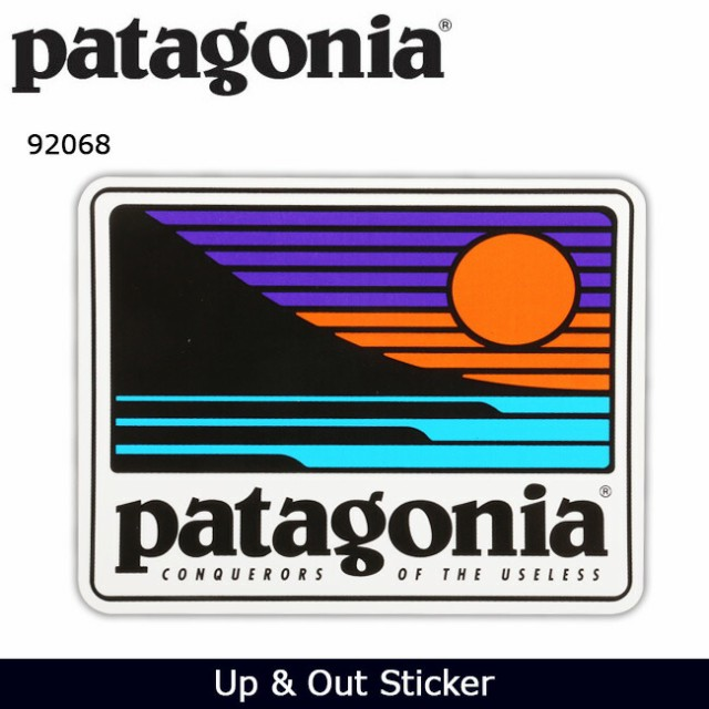 パタゴニア Patagonia Up & Out Sticker 92068 【...