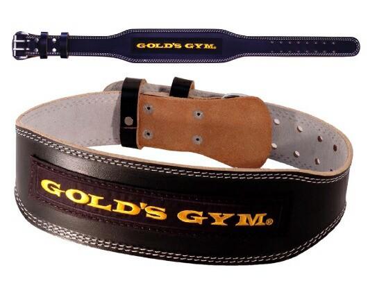 GOLDS GYM ゴールドジム ブラックレザーベルト G3...