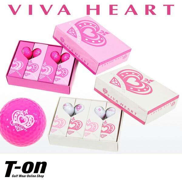 ビバハート VIVA HEART ゴルフボール レディース
