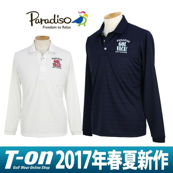 2017 春夏 パラディーゾ PARADISO 長袖ポロシャツ...