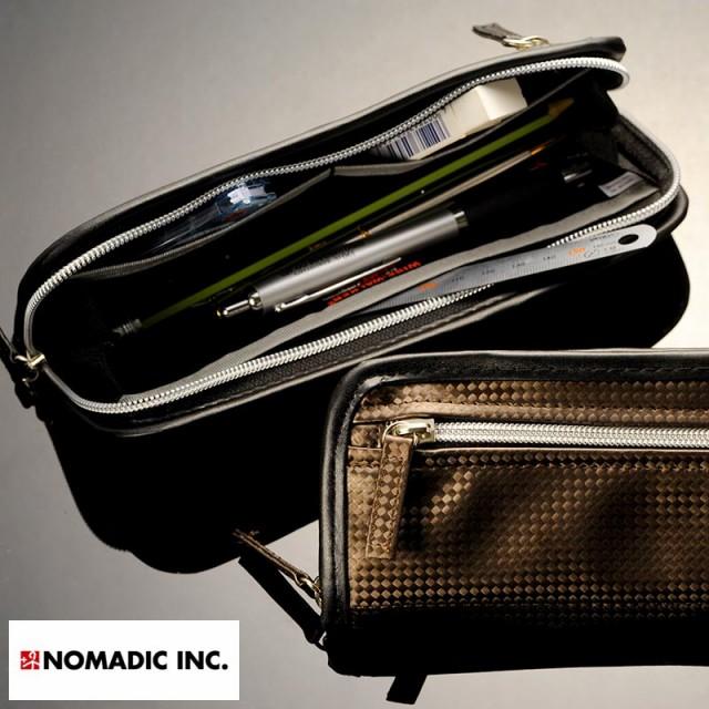 NOMADIC ノーマディック カーボン調ペンケース 1...