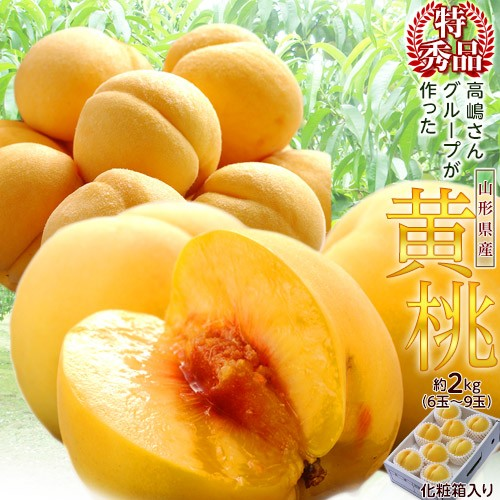 桃 もも 送料無料 山形 高嶋さんグループの黄桃 ...