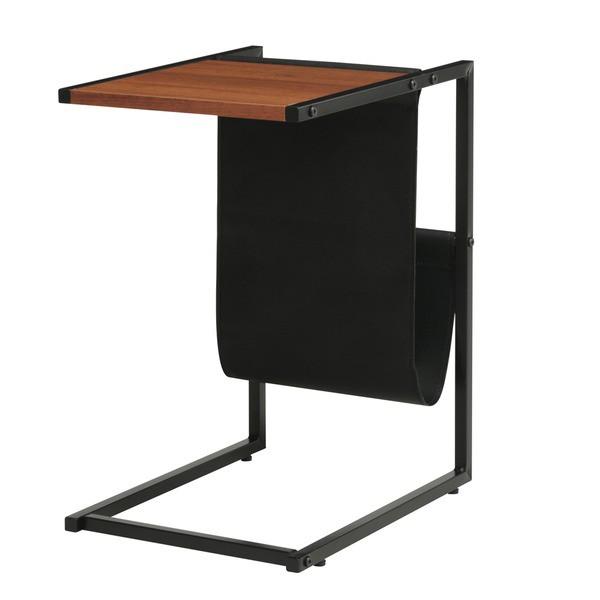 サイドテーブル(ブラウン/茶) 幅40cm 机/ミニテー...