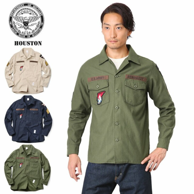 HOUSTON ヒューストン 40233 WAPPEN ARMY SHIRTS ...