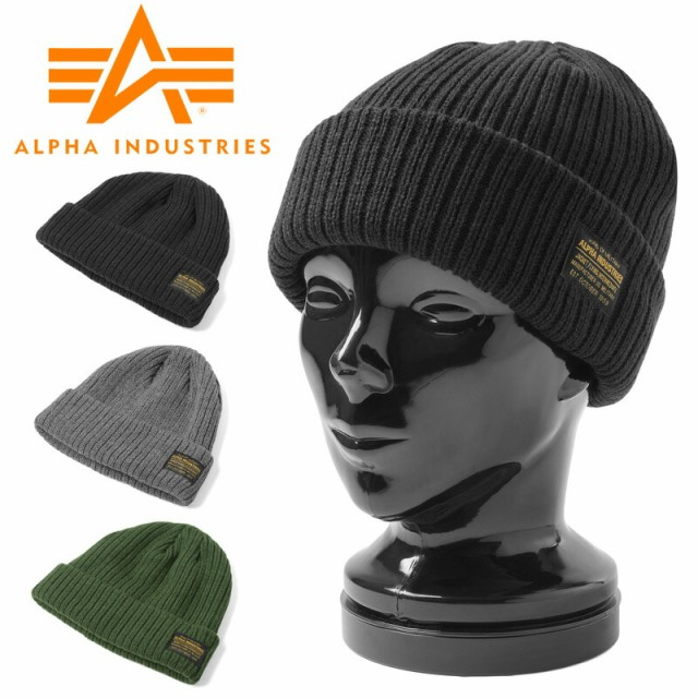 ALPHA アルファ ACRYLIC MILITARY WATCH CAP アク...