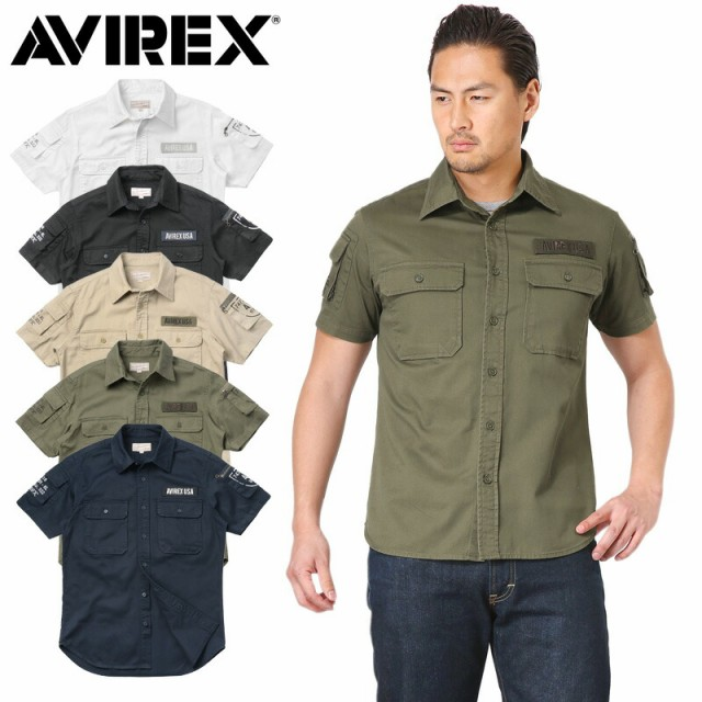 AVIREX アビレックス 6175093 S/S FATIGUE カーキ...