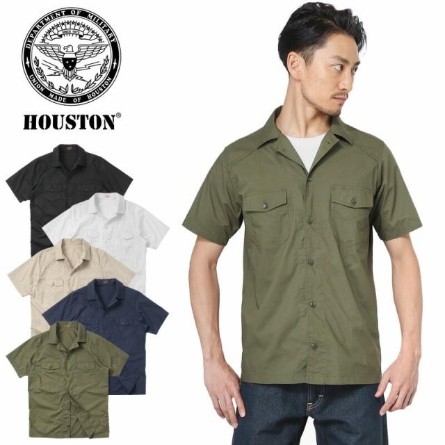 HOUSTON ヒューストン 40455 POPLIN HBT シャツ
