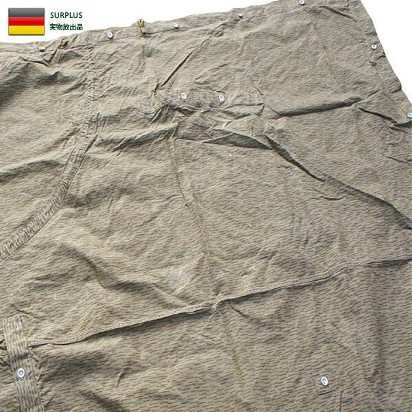 実物 東ドイツ NVA テントシェル レインドロップ...