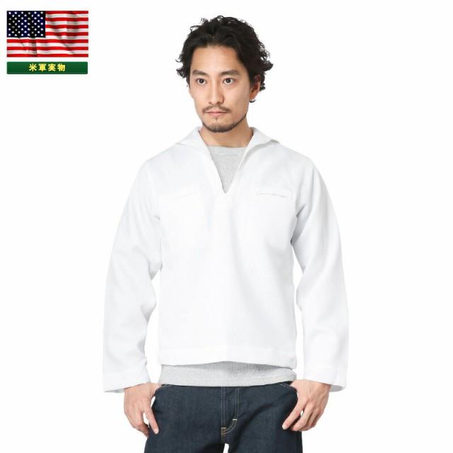 実物 新品 米海軍 プルオーバー セーラーシャツ W...