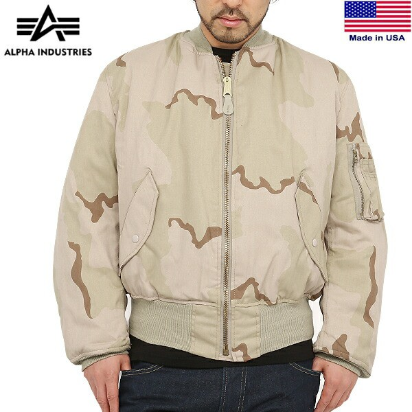 【T】ALPHA INDUSTRIES アルファ MADE IN USA MA-...