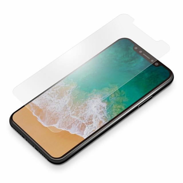 PG-17XSF08 iPhoneX用液晶保護フィルム 衝撃吸収E...