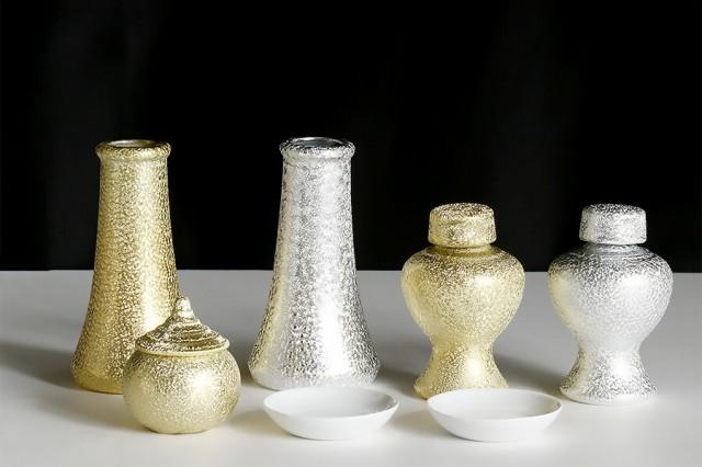 希少■神棚用 陶器■神具セット  貴金属調 光沢仕...