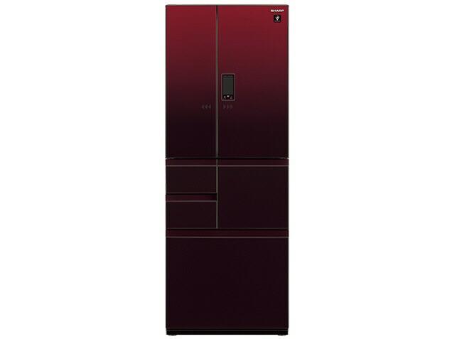 シャープ 冷凍冷蔵庫 SJ-GX50E-R [グラデーション...