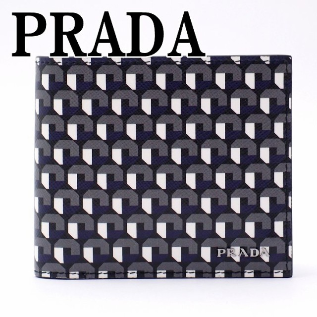 プラダ PRADA 財布 メンズ 二つ折り財布 サフィア...
