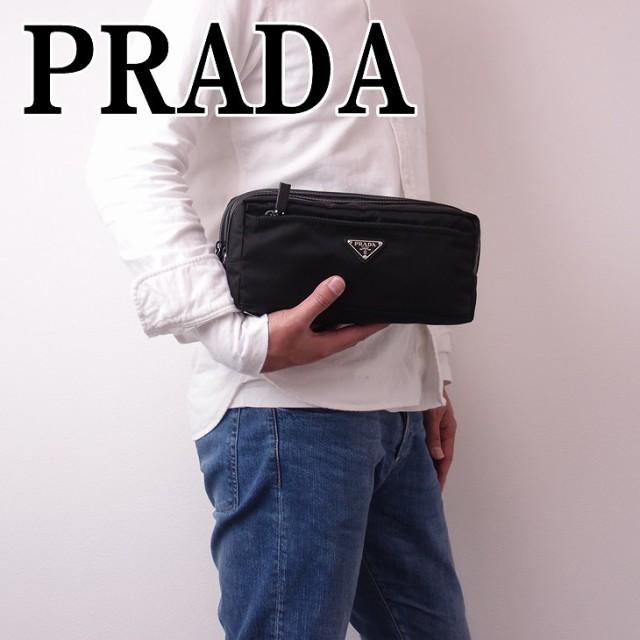 プラダ PRADA メンズ セカンドバッグ クラッチバ...