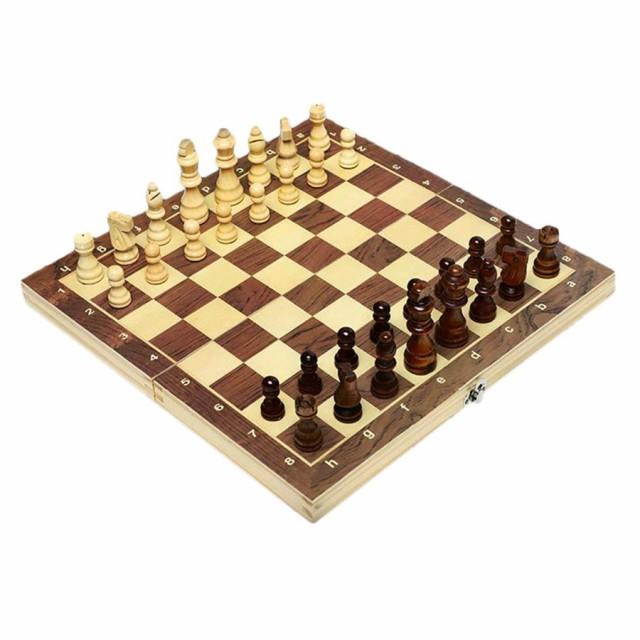 磁気チェスセット象眼木製チェスセットと折りたた...