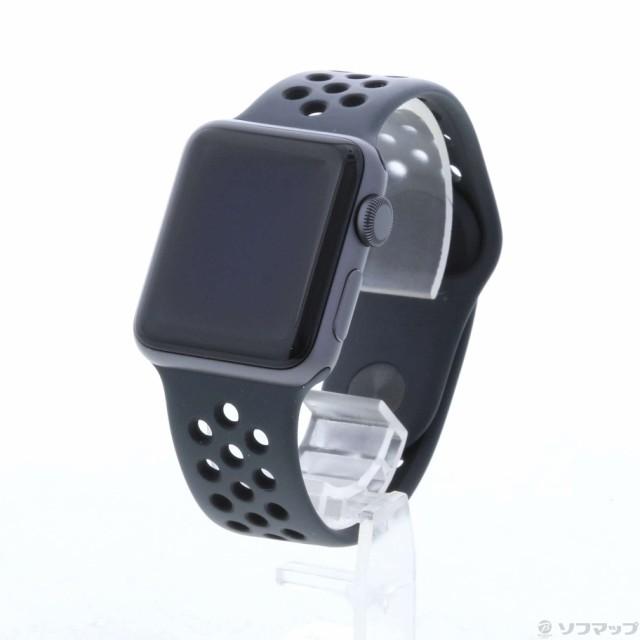 (中古)Watch Series 3 Nike+ GPS 38mm スペースグ...