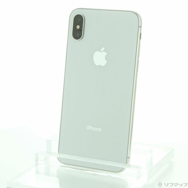 (中古)Apple iPhoneX 64GB シルバー MQAY2J/A SIM...