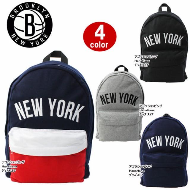 ニューヨーク NEW YORK リュック バッグ 立体ロゴ...