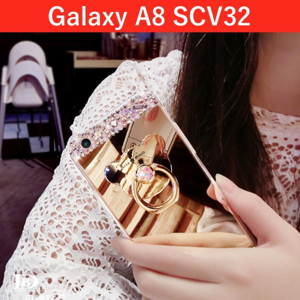 Galaxy a8 キラキラスタンドケース