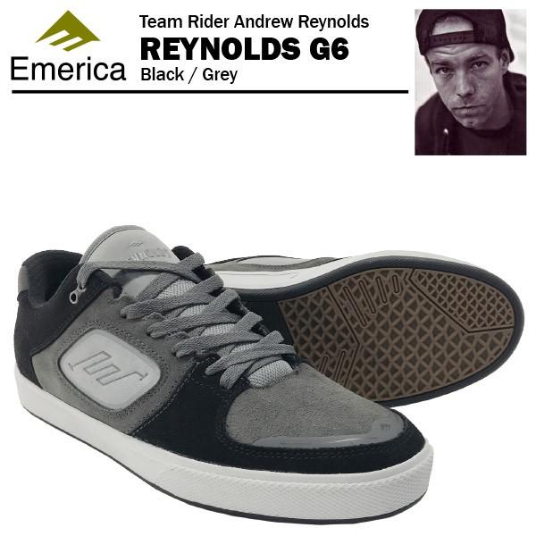 エメリカ レイノルズ G6 ブラック/グレー スケー...