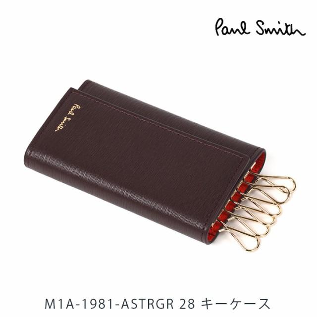 ポールスミス PaulSmith キーケース ボルドー ブ...