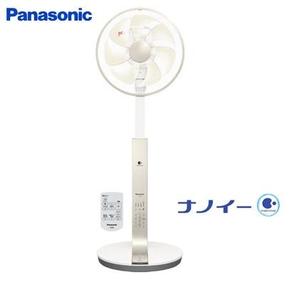 パナソニック 扇風機 リビング扇 ナノイー DCモーター搭載 リモコン付 7枚羽根 温度センサー運転 F-CR339-N シルキーゴールド