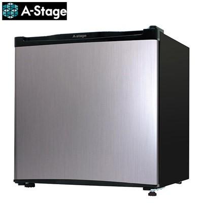 【送料無料】A-Stage 46L 1ドア 冷蔵庫 左右ドア付け替え可能 直冷式 AS-46S AS-46S シルバー