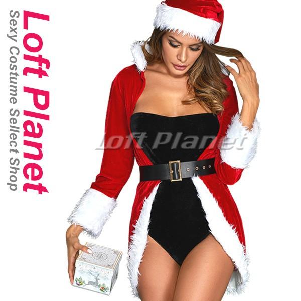 クイーンのサンタ衣装 クリスマスのセクシードレ...