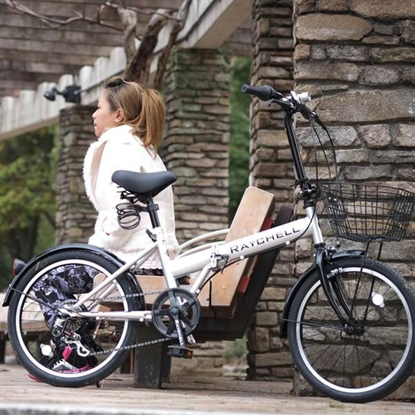 【メーカー直送】 Raychell R-241N シルバー ノーパンク仕様 20インチ 折りたたみ自転車
