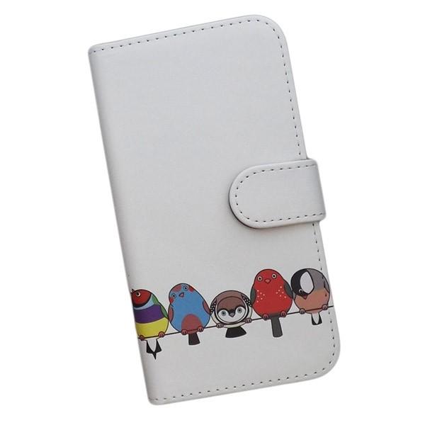 AQUOS R SHV39 スマートフォンケース 手帳型 鳥 ...