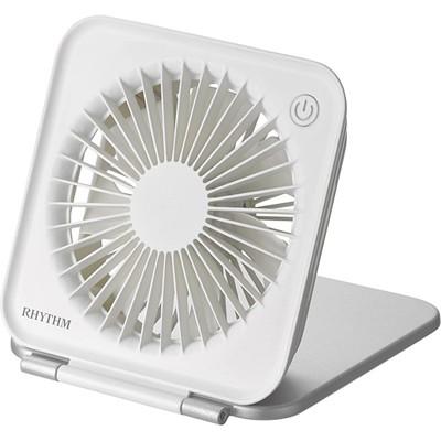 ◆リズム時計■USB電源 小型扇風機【折りたたみ...