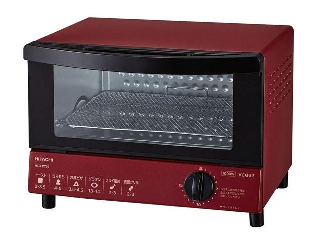HITACHI オーブントースター HTO-CT30-R