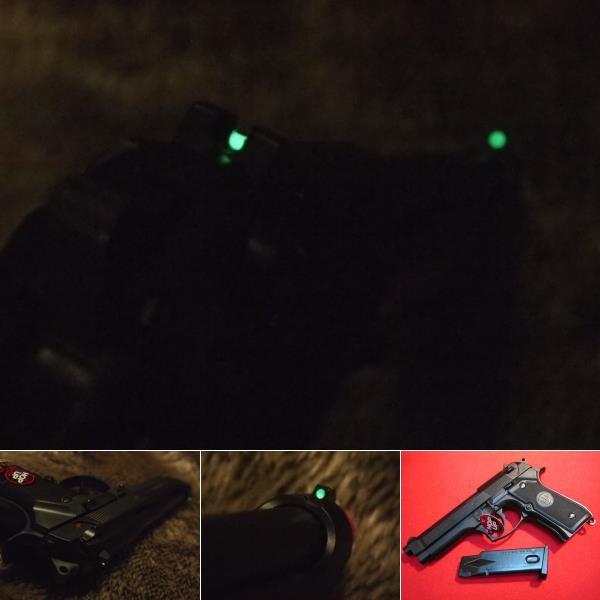 M92F ミリタリー 蓄光サイト ナイトゲーム カスタ...