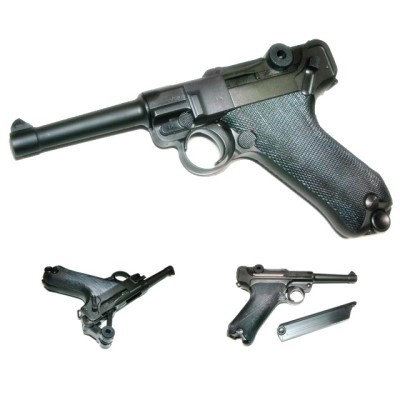 LUGER ルガー P08 4inch HW ブローバックガスガン...